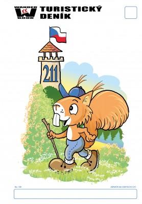 Turistický denník - Motív: Zdravík na cestách s 211
