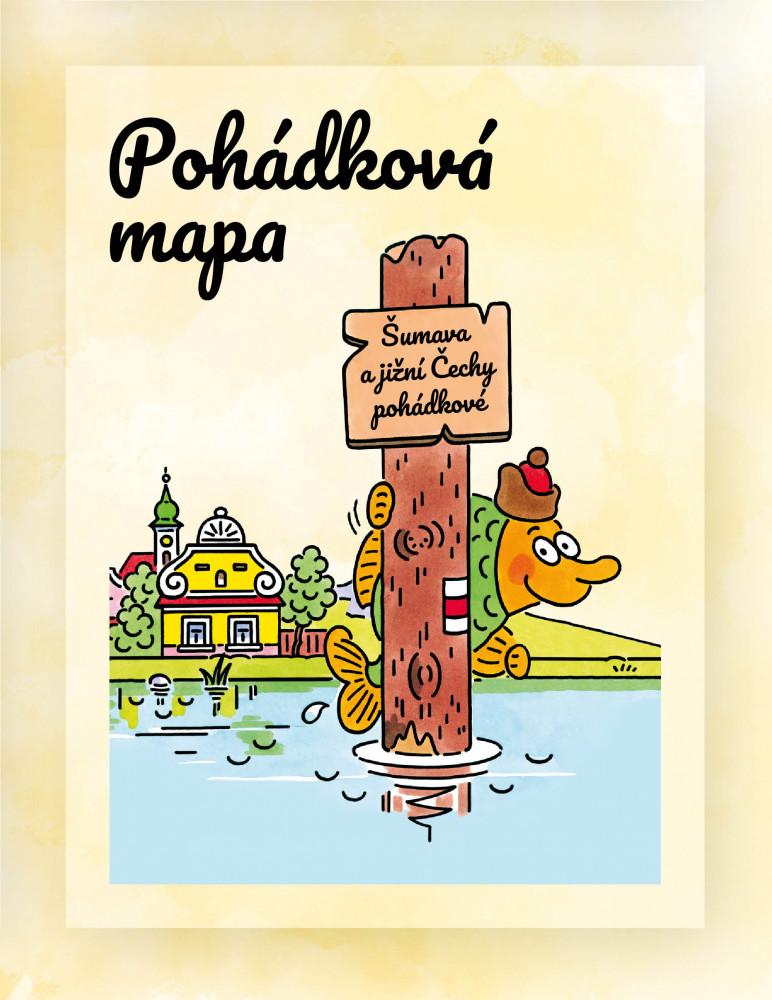 Mapa Šumava a jižní Čechy pohádkové