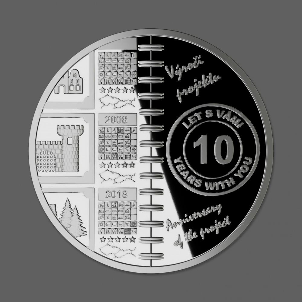 Stříbrná medaile 10 let Wander Book