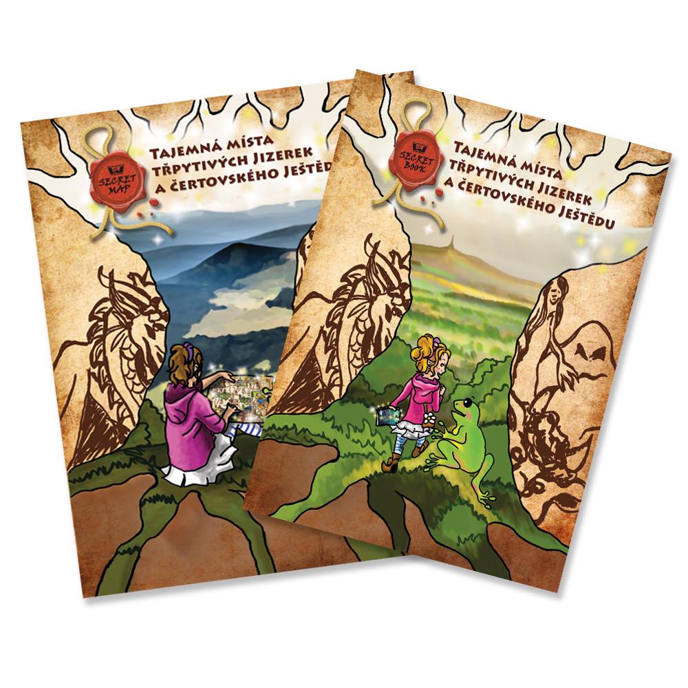 Secret Book + mapa Tajemná místa třpytivých Jizerek a čertovského Ještědu