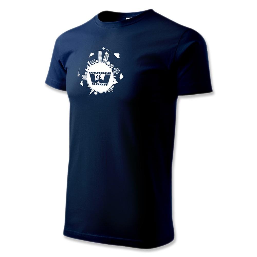 Tričko pánské modré - M