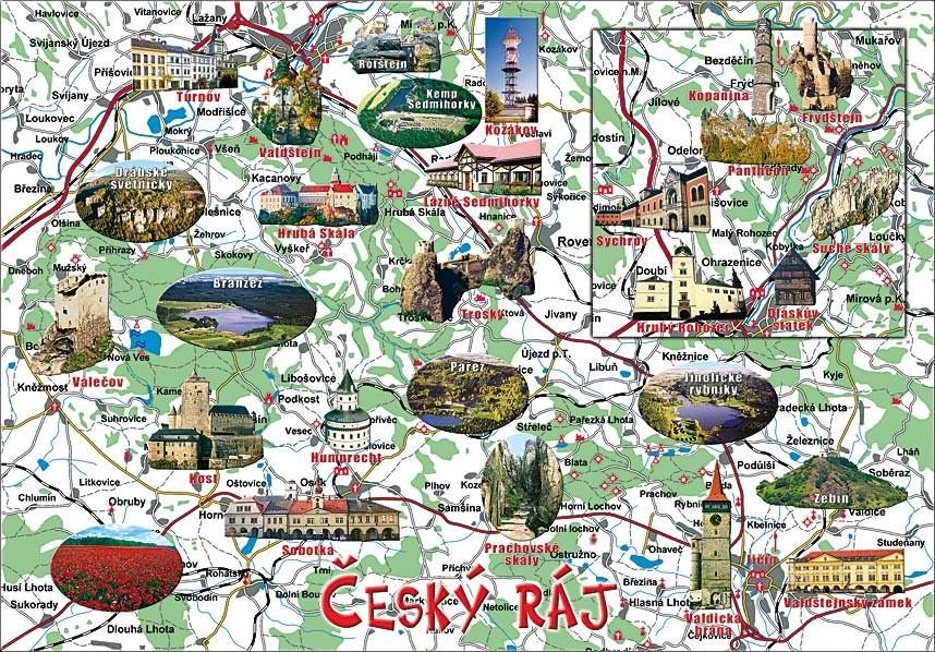 Mapa Cesky Raj
