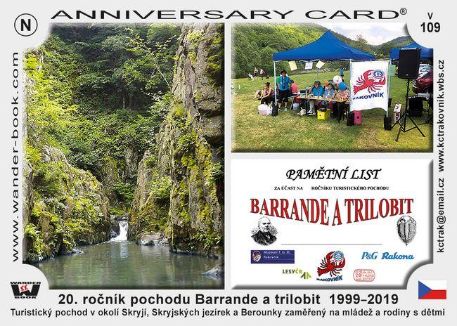 20. ročník pochodu Barrande a trilobit  1999–2019