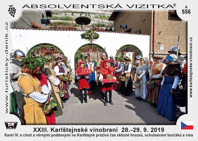 XXIII. Karlštejnské vinobraní  28.–29. 9. 2019
