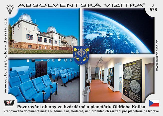Pozorování oblohy ve hvězdárně a planetáriu Oldřicha Kotíka