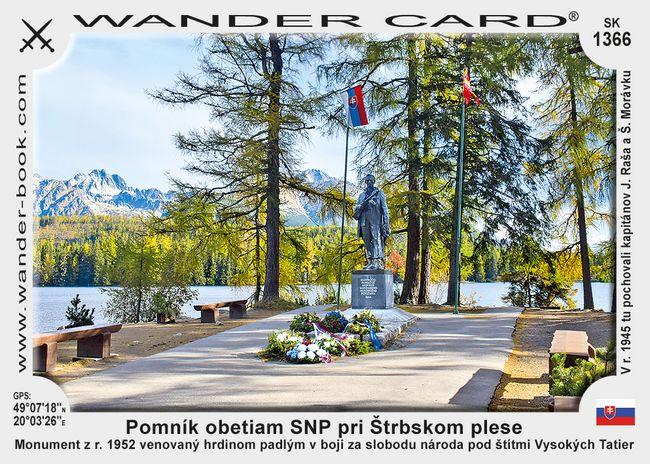Pomník obetiam SNP pri Štrbskom plese