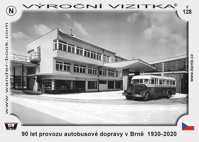 90 let provozu autobusové dopravy v Brně  1930–2020