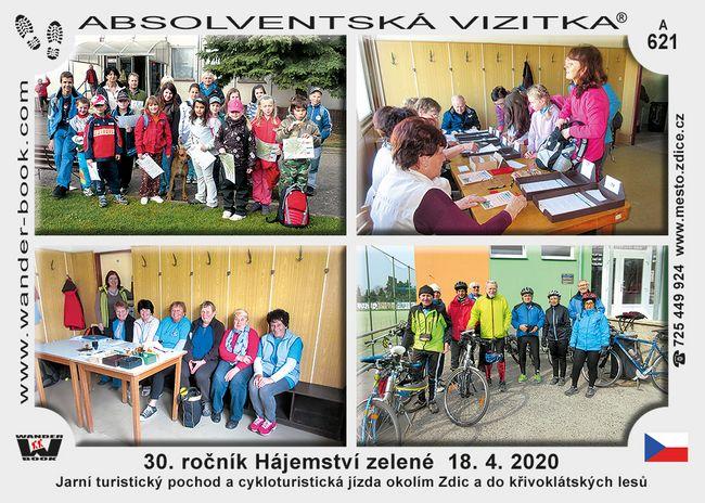 30. ročník Hájemství zelené  18. 4. 2020