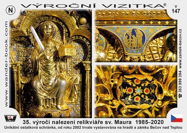 35. výročí nalezení relikviáře sv. Maura  1985–2020