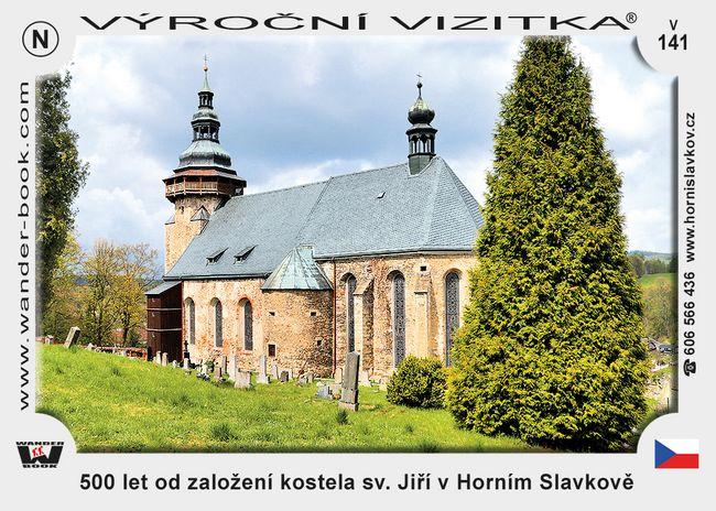 500 let od založení kostela sv. Jiří v Horním Slavkově