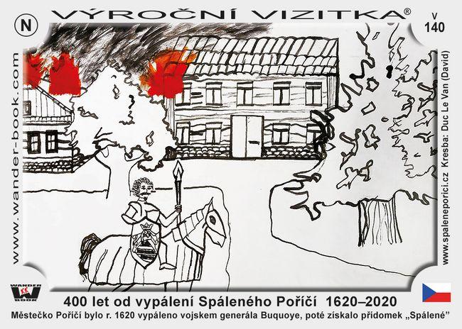 400 let od vypálení Spáleného Poříčí  1620–2020