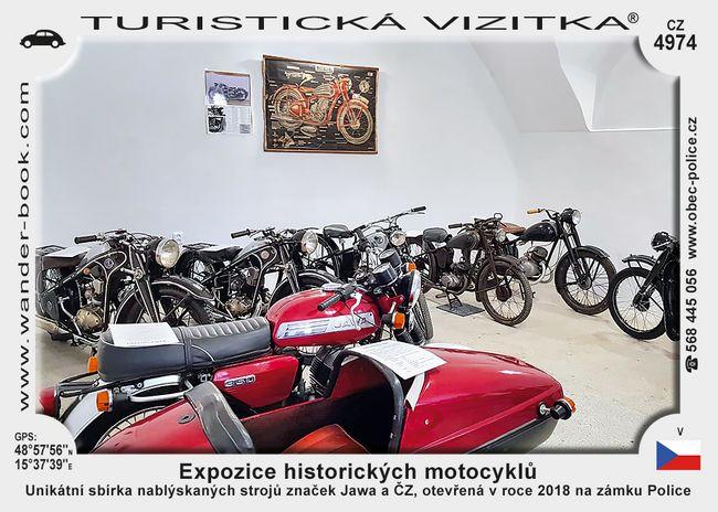Expozice historických motocyklů