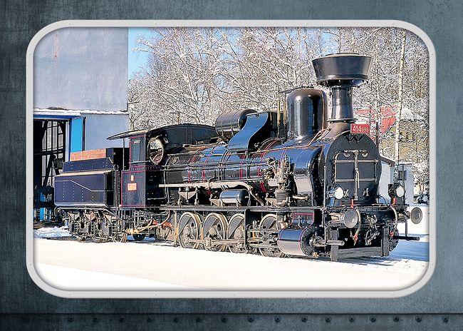 """Parní lokomotiva 414.096 """"Heligón"""""""