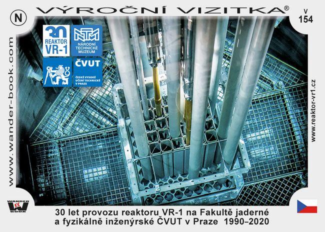 30 let provozu reaktoru VR-1 na Fakultě jaderné a fyzikálně inženýrské ČVUT v Praze  1990–2020