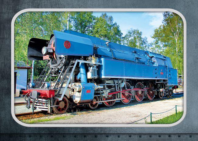 """Parní lokomotiva 477.043 """"Papoušek"""""""