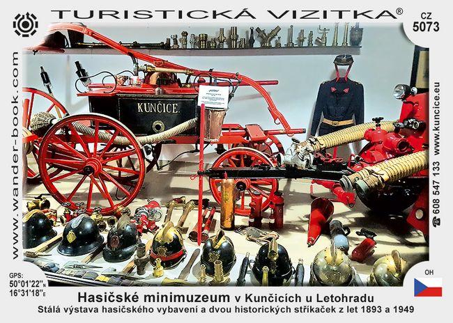 Hasičské minimuzeum v Kunčicích u Letohradu