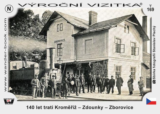 140 let trati Kroměříž – Zdounky – Zborovice