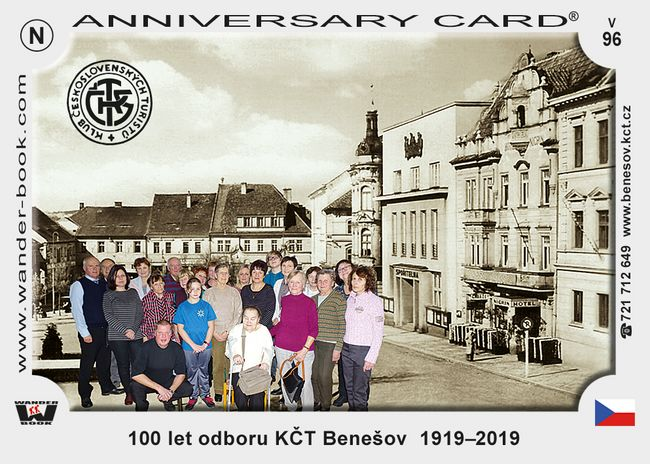 100 let odboru KČT Benešov  1919–2019