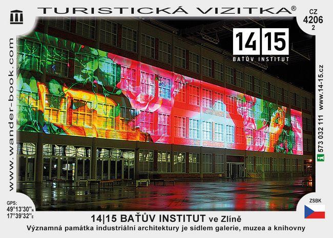 14|15 BAŤŮV INSTITUT ve Zlíně