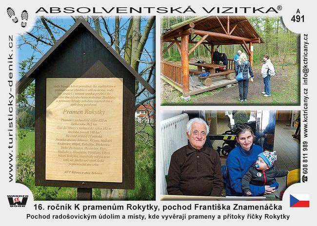 16. ročník K pramenům Rokytky, pochod Františka Znamenáčka