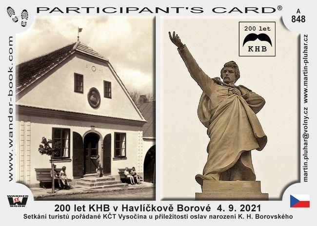 200 let KHB v Havlíčkově Borové  4. 9. 2021