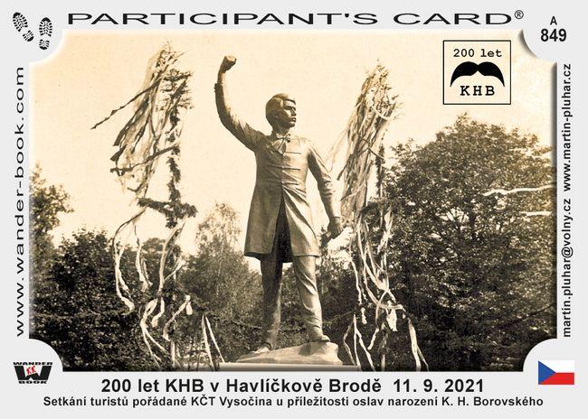 200 let KHB v Havlíčkově Brodě  11. 9. 2021