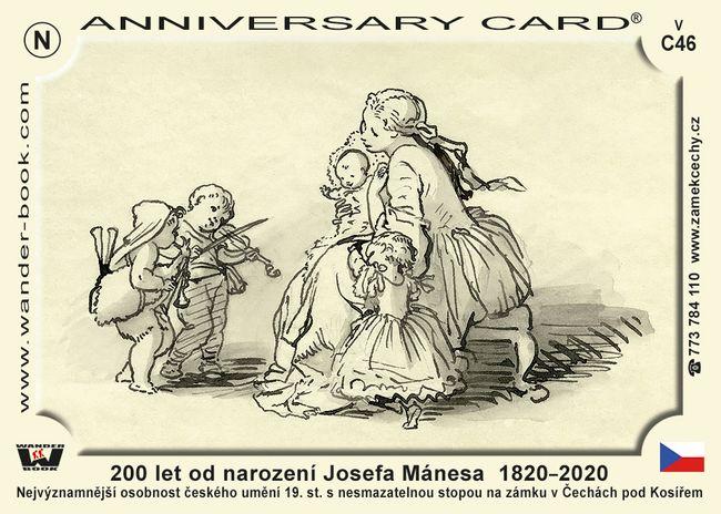 200 let od narození Josefa Mánesa  1820–2020