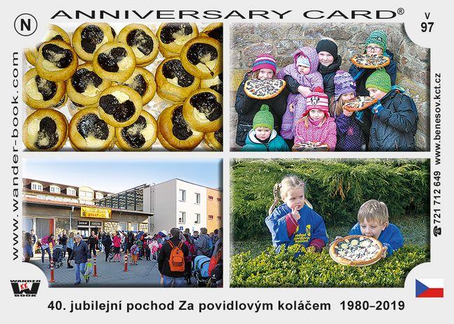 40. jubilejní pochod Za povidlovým koláčem  1980-2019