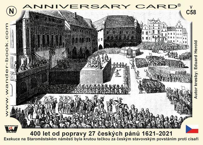 400 let od popravy 27 českých pánů 1621–2021