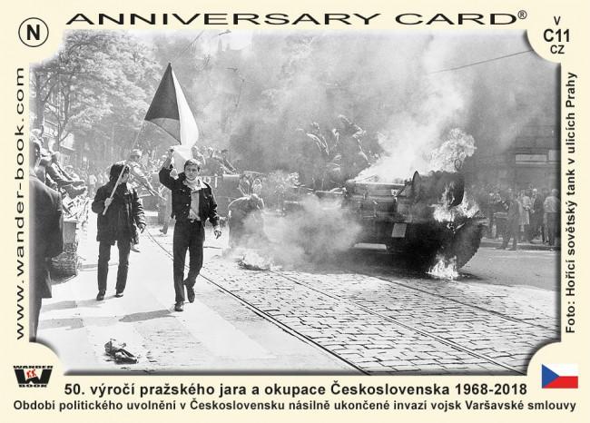 50. výročí pražského jara a okupace Československa 1968-2018