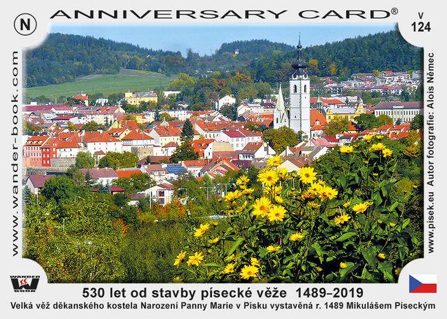 530 let od stavby písecké věže  1489–2019