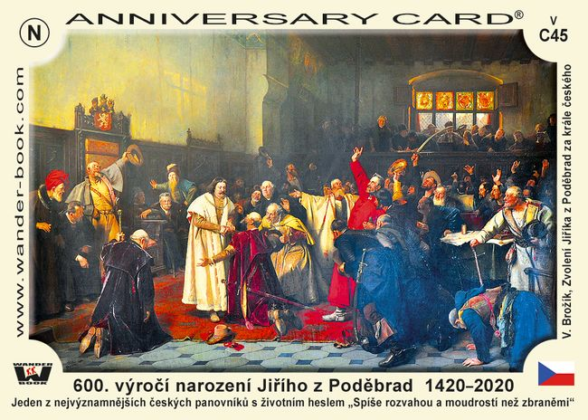 600. výročí narození Jiřího z Poděbrad  1420–2020