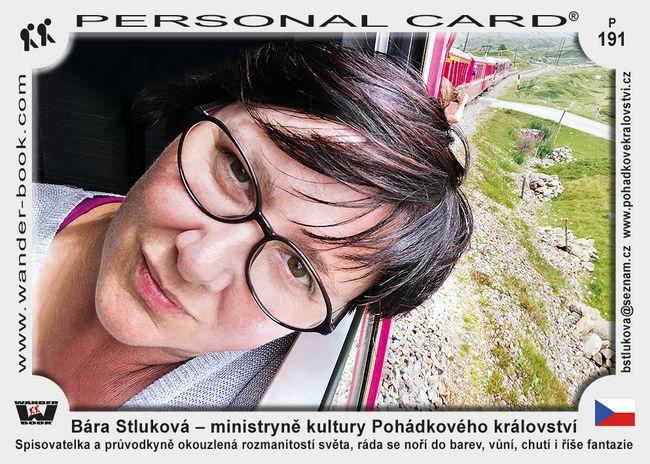 Bára Stluková – ministryně kultury Pohádkového království