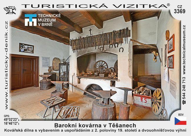 Barokní kovárna v Těšanech
