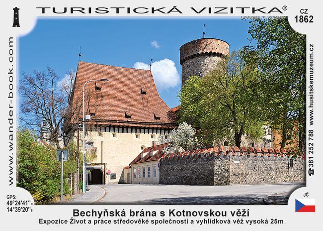 Bechyň. brána s Kotnovs. věží v Táboře