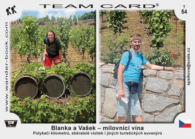 Blanka a Vašek – milovníci vína