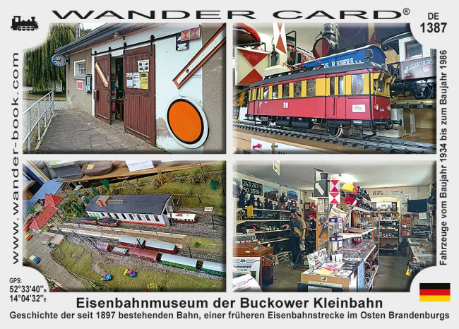 Eisenbahnmuseum der Buckower Kleinbahn