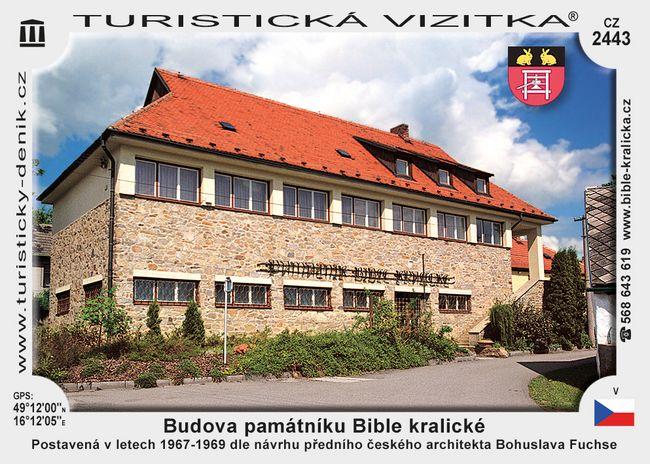 Budova památníku Bible kralické