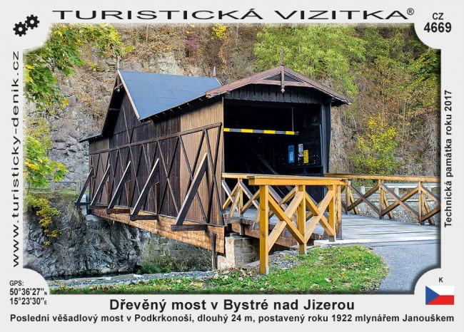 Dřevěný most v Bystré nad Jizerou