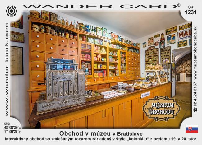 Obchod v múzeu v Bratislave