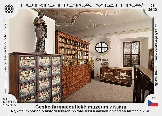 České farmaceutické muzeum v Kuksu