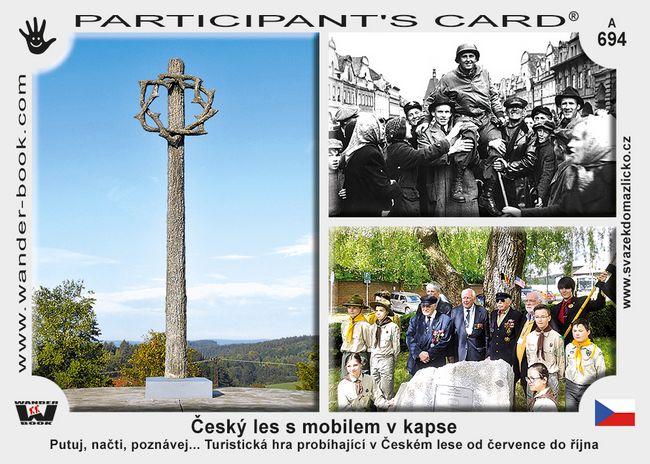 Český les s mobilem v kapse