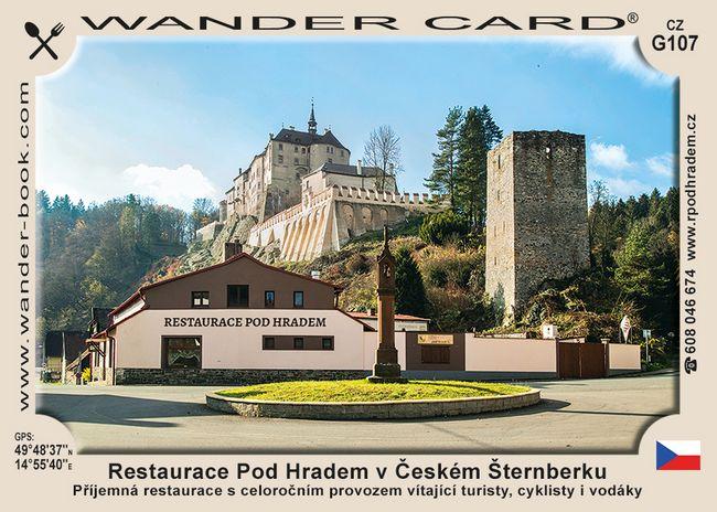 Český Šternberk restaurace pod hradem