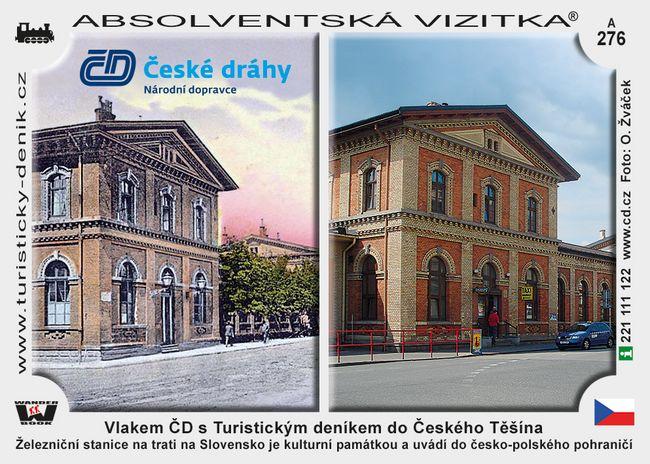 Vlakem ČD s Turistickým deníkem do Českého Těšína