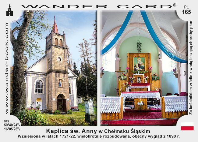 Chełmsko Śląskie kaplica św Anny