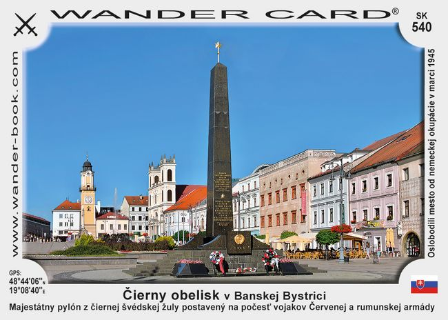 Čierny obelisk v Banskej Bystrici