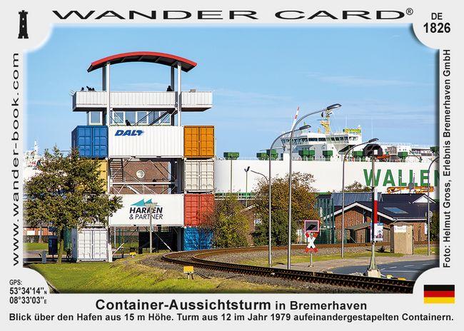 Container-Aussichtsturm in Bremerhaven