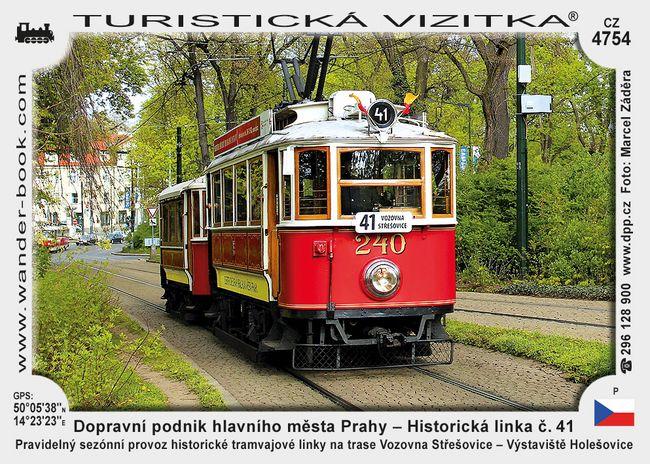 Dopravní podnik hlavního města Prahy – Historická linka č. 41