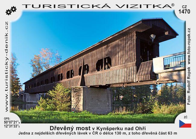 Dřevěný most v Kynšperku nad Ohří