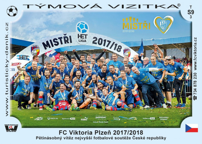 FC Viktoria Plzeň Mistři 2017/2018